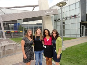 Natalie gave a fun and informative tour of areas inside and outside of the Googleplex.