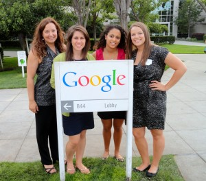 Dr. Theresa B. Clarke and her 2011 Google Challenge Americas Regional Winners at the Googleplex.