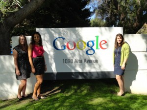 Our first stop on the beautiful Googleplex campus.