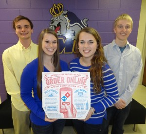 Dan Froehlich, Haley Svadeba, Lauren Crain (Team Leader), and Shawn Misar