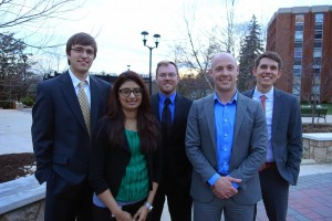 Matt Ropp, Naureen Versi, Glen Hollowood, Taylor Schwalbach, and Chris Meyers (Team Captain).