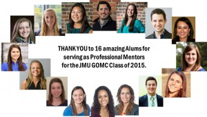 JMU GOMC Mentors for the Class of 2015